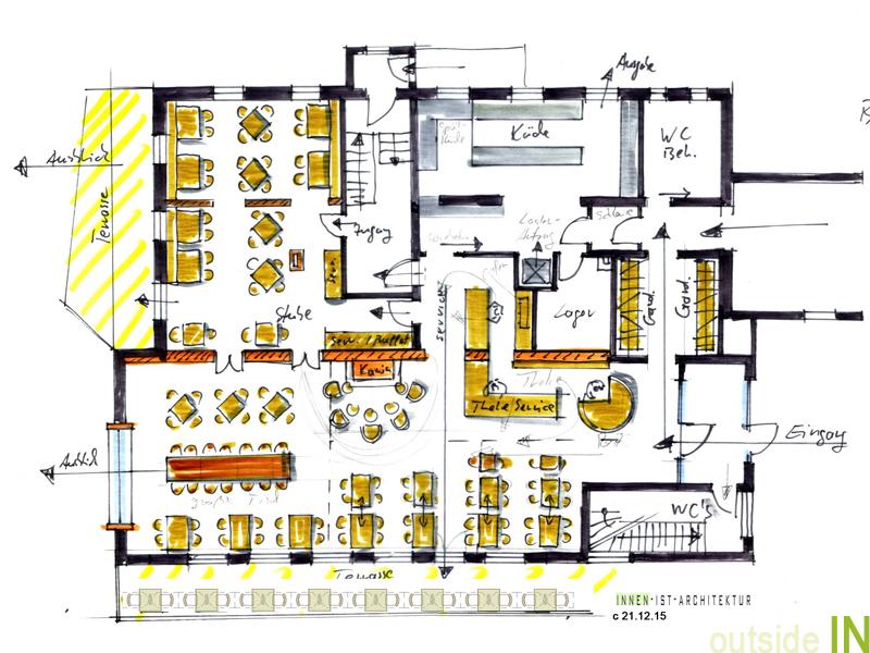 Gastronomie und restaurant design innenarchitektur und for Gastronomie architektur